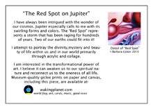red spot on jupiter painting greeting card